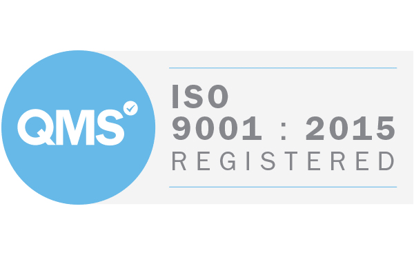 QMS ISO 9001 Registered, Certificate number 14129733